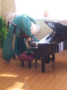 """A Moment in the Afternoon"" Hatsune Miku figure photo by reonov #Hatsune Miku…"