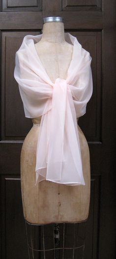 Blush Chiffon Shawl Wrap Scarf by BestFashionOutlet on Etsy