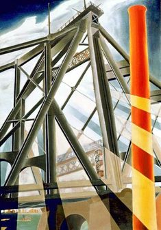 Elsie B. Driggs (American Precisionist painter, 1898-1992) Queensborough Bridge, 1927