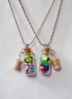 Couture amateur collier Miniature verre par RainbowMoonShop sur Etsy, $9.50
