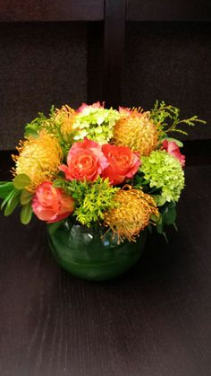 Pincushion Proteas which have a spidery looking appearance add a lot of texture to an arrangement.