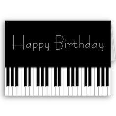 Birthday Card - Piano Keyboard $3.35