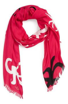 kate spade new york bow print scarf available at #Nordstrom