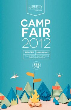 Poster & Flyer Design Liberty University Camp Fair poster (I have to try these p. - POSTER - New education Cool Poster Designs, Creative Poster Design, Poster Design Inspiration, Creative Posters, Graphic Design Posters, Cool Posters, Typography Design, Lettering, Colour Inspiration