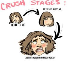 """The struggles of having a crush.  I'm definitely in the """"put me out of my misery"""" stage.  lol"""