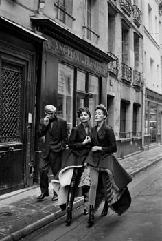 Gaultier's Montmartre in French Vogue in 1991 by  Peter Lindbergh. Helena Christiensen and Marie Sophie Wilson