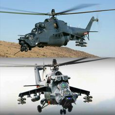 Mil Mi-24 Super Hind Mk. III comes with upgraded countermeasures, weapons and avionics (top pic).  Mil Mi-24 Super Hind Mk. IV comes with Pall Vortex Particle Separators to protect the engines from debris like snow, dust, salt water (bottom pic).