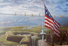 """Fort McHenry, the Battle of Baltimore  """"During the War of 1812, the brick fort defended the Baltimore harbor and stopped a British advance into the city.  It was the valiant defense of the fort by 1,000 Americans that inspired Francis Scott Key, a lawyer and amateur poet,to compose the Star Spangled Banner, originally entitled 'Defense of Fort McHenry'.""""  http://baltimore.org/arts-and-culture/fort-mchenry"""