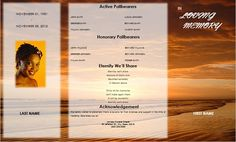 DIY Gate fold Funeral Programs / Gate fold Funeral Program Templates / Gate Fold Memorial Service Templates / More Funeral Order of Service Templates and Memorial Programs at funeralpamphlets.com
