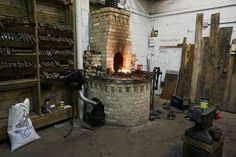 Brick forge at Cergol Forge and Toolworks, Milwaukee.