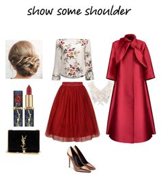"""Color me Red"" by itsamandamandy on Polyvore featuring Alexander Wang, Yves Saint Laurent, Merchant Archive and Black"