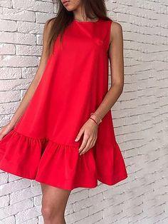 Shift Women Daily Sleeveless Basic Solid Summer Dress – lovisboutique Source by summer dress Casual Dress Outfits, Fashion Outfits, Dress Fashion, Simple Dresses, Short Dresses, Mini Dresses, Modern Filipiniana Dress, Daily Dress, Moda Fashion