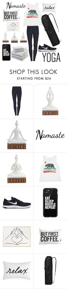 """Namaste in Bed"" by nerdynic10 ❤ liked on Polyvore featuring Billabong, NIKE, Casetify, Charter Club, M Z Wallace and Hamam"