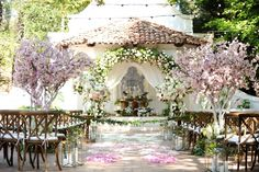 AN INTERTWINED EVENT: CHARMING PINK WEDDING AT RANCHO LAS LOMAS | Intertwined Weddings & Events | Gavin Wade Photography  OC Wedding, Blush, Ceremony, Garden Wedding