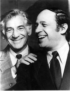 Leonard Bernstein having a laugh with Pierre Boulez.