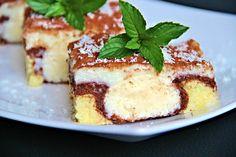 Slices of cheesecake - coconut balls Coconut Balls, Different Cakes, Desert Recipes, Cheesecake Recipes, No Bake Cake, Tiramisu, Waffles, French Toast, Deserts