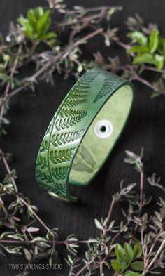 Green Leather Bracel