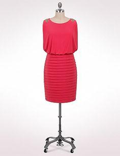 Plus Size Shutter Tier Blouson Dress   Dressbarn..maybe for my brothers wedding?