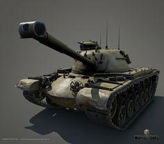 ArtStation - M48A1 Patton Main battle tank, Leonid Kuzyakin
