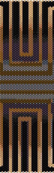 PATTERN Optical Brown Even Count Single Drop Peyote Cuff