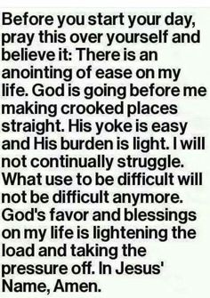 Before you start.your day pray this over yourself. All circumstances change nothing stays the same hang in there and fight for everything Christ Jesus died to give you. Prayer Scriptures, Bible Prayers, Faith Prayer, God Prayer, Prayer Quotes, Faith Quotes, Spiritual Quotes, Bible Quotes, Bible Verses
