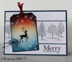 Reindeer Tag by mum of 2+2 - Cards and Paper Crafts at Splitcoaststampers