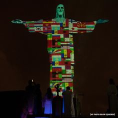 Rio's Christ the Redeemer statue lit up in solidarity with all the countries affected by the coronavirus crisis. Christ The Redeemer Statue, Nbc Nightly News, Message Of Hope, God, Instagram, Countries, Photography, Rio De Janeiro, Religious Pictures
