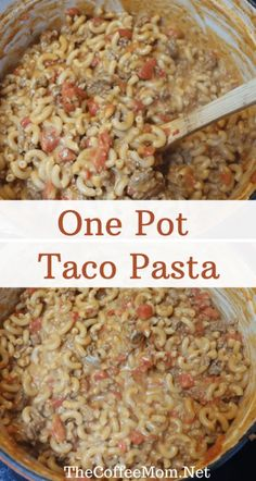 Taco Tuesday will never be the same with this easy and cheesy one-pot taco pasta.