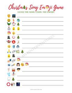 Christmas Song Emoji Game