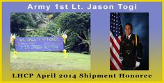 """""""Jason is a great man"""" Army 1st Lt. Jason Togi, LHCP April 2014 Shipment Honoree http://www.landstuhlhospitalcareproject.org/jason-togi/ #landstuhlhospitalcareproject #charity #military"""