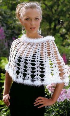 Patron Crochet Chal Mini Poncho