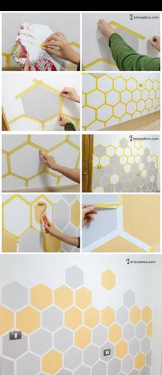 Bedroom Wall Designs, Wall Decor Design, Room Ideas Bedroom, Ceiling Design, Bedroom Decor, Wall Paint Patterns, Wall Painting Decor, Room Paint, Paint Designs
