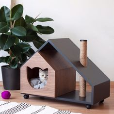 Human-Friendly Multifunctional Furniture for you and your Cats and Dogs - Un mob. - Human-Friendly Multifunctional Furniture for you and your Cats and Dogs – Un mobilier multifoncti - Pet Beds, Dog Bed, Cat Playground, Cat Room, Pet Furniture, Pet Home, Cat Tree, Animal House, Dog Houses