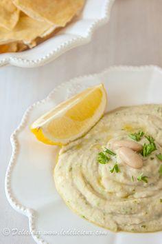 White Bean Dip with Sea Salt Pita Chips