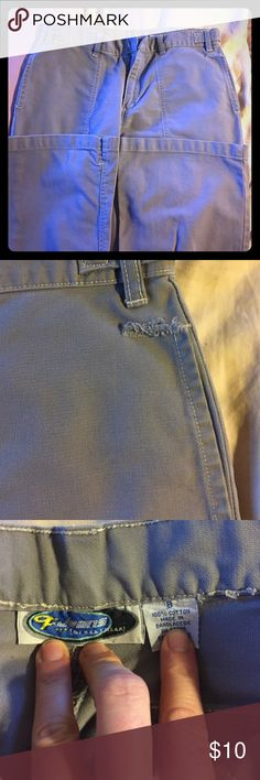 Bottoms Trouser style pants. Wide leg fit. Love these a ton as you can see by the tear at the pocket they were worn a lot but well loved. The picket tear is the only issue with them. Simply do not fit anymore. Pants Trousers