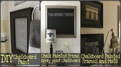 3 Chalkboard Projects {and DIY Chalkboard Paint too}
