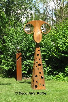 Windspiel aus Stahl mit Edelstahl Windräder.