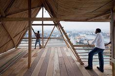 NLE architects makoko floating school designboom