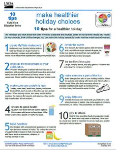 10 tips for making healthy holiday choices!