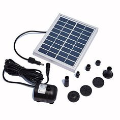 Pond Equipment - Lewisia 2W Solar Fountain Pump Waterfall for Pool Garden Pond Bird Bath Submersible Kit Water Pump >>> For more information, visit image link.