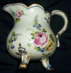 """Antique Sevres Porcelain Creamer """"Pot a' lait a"""" trois pieds"""" circa from antiquecharm on Ruby Lane"""