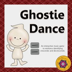 Your elementary music students will love learning about dynamics (crescendo and decrescendo) with this interactive game and watching the ghost dance. Works well for whole group instruction and centers. An excellent extension for Orff and Kodaly classrooms and easy for a non-music substitute to facilitate.