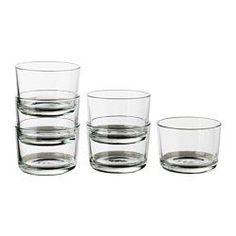 IKEA - IKEA 365+, Glas, Auch für warme Getränke geeignet.Aus gehärtetem Glas, stoßfest und haltbar.Durch seine Form mit der breiten Öffnung eignet sich das Glas auch zum Servieren von Desserts.Stapelbar - spart Platz im Schrank, wenn nicht in Gebrauch.