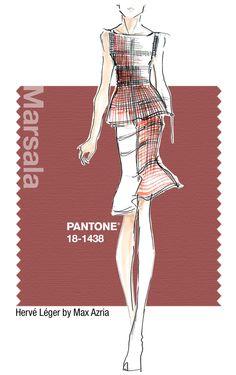 Hervé Léger in Pantone Marsala 2015 Color of the Year Pantone 2015, Pantone Colors 2015, Marsala Pantone, Herve Leger, Fashion Colours, Colorful Fashion, Design Web, 2015 Color Trends, Boho Stil