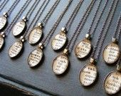 Sterling Chain  - Word Necklaces made from vintage dictionaries.