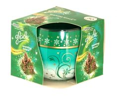 Glade sparkling spruce scented candle 120g