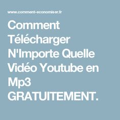 Comment Télécharger N'Importe Quelle Vidéo Youtube en Mp3 GRATUITEMENT. Data Science, Computer Science, Computer Tips, Photo Hacks, Netflix Codes, Applied Science, Marketing Communications, Videos, About Me Blog