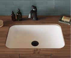 Kraus KSU-8MW Natura Undermount Bathroom Sinks Bathroom Colors, Bathroom Sets, Modern Bathroom, Master Bathroom, Bathrooms, Undermount Bathroom Sink, Sink In, Solid Surface, Keep It Cleaner