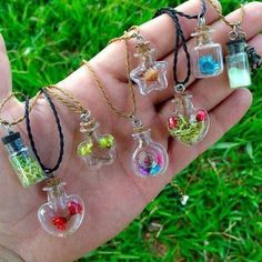 There is 1 tip to buy jewels, hippie. Bottle Jewelry, Bottle Charms, Bottle Necklace, Resin Jewelry, Hippie Jewelry, Cute Jewelry, Diy Jewelry, Jewelery, Jewelry Making
