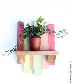 Купить Полочка для цветов - фуксия, полка, декор стен, украшение на стену, цветочница, оригинальная цветочница